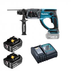 Makita - Akumulatorska bušilica-čekić DHR202 2x3Ah