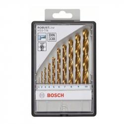 Bosch - 10-delni Robust Line set burgija za metal HSS-TiN, 135°