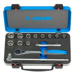 """Unior - Ključevi nasadni, prihvat 1/2"""", u metalnoj kutiji - 190BI6P14"""