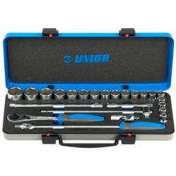 """Unior - Ključevi nasadni, prihvat 1/2"""", u metalnoj kutiji - 190BI6P24"""