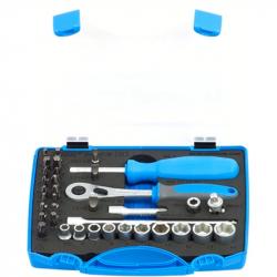 """Unior - Ključevi nasadni i nastavci 1/4"""", u plastičnoj kutiji - 188BI6P36"""