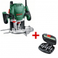 Bosch-zeleni - Površinska glodalica POF 1400 ACE + set glodala - 060326C801