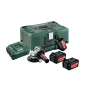 Metabo - Akumulatorska ugaona brusilica W 18 LTX 125 Quick Set - 602174960