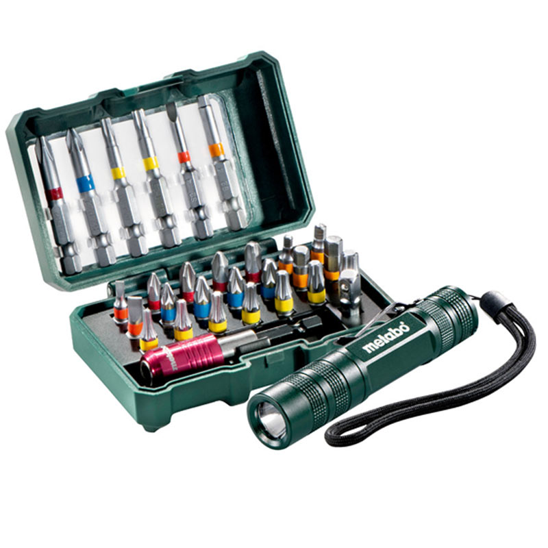 Metabo - Set bitova 29 kom + mini lampa 626721000 - 626721000